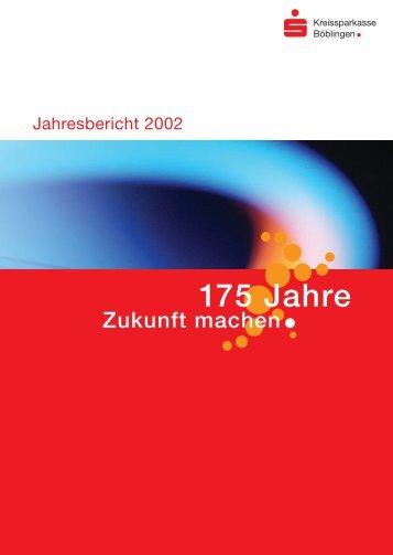 Jahresbericht 2002 - Kreissparkasse Böblingen
