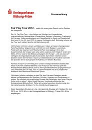 Fair Play Tour 2012 - Kreissparkasse Bitburg-Prüm
