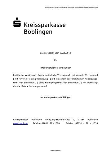 Basisprospekt vom 19.06.2012