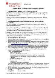 Checkliste für Vereine-Verbände-Institutionen