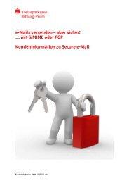 mit S/MIME oder PGP Kundeninformation zu Secure e-Mail