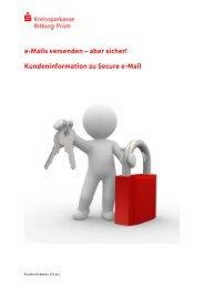 Kundeninformation zu Secure e-Mail - Kreissparkasse Bitburg-Prüm