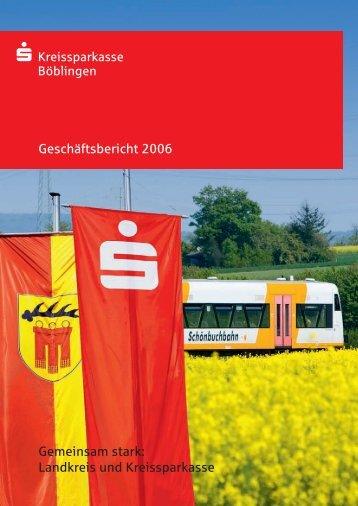 Geschaeftsbericht 2006 - Kreissparkasse Böblingen