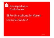 SEPA-Präsentation für Vereine - Kreissparkasse Groß-Gerau