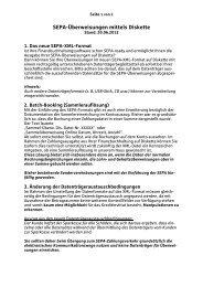 SEPA-Überweisungen mittels Diskette