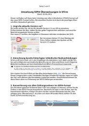 Umsetzung SEPA-Überweisungen in SFirm