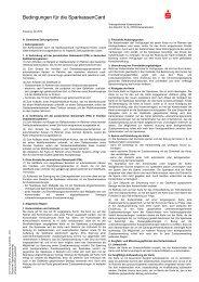 Bedingungen für die SparkassenCard - Kreissparkasse Kaiserslautern