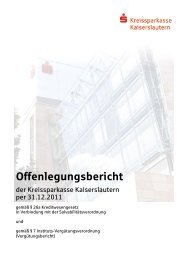 Offenlegungsbericht - Kreissparkasse Kaiserslautern