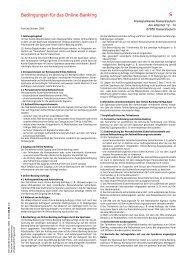 Bedingungen für das Online-Banking - Kreissparkasse Kaiserslautern