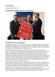 100 Millionen Euro für die Region - Kreissparkasse Kaiserslautern
