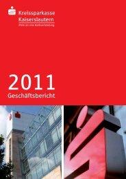 Geschäftsbericht - Kreissparkasse Kaiserslautern