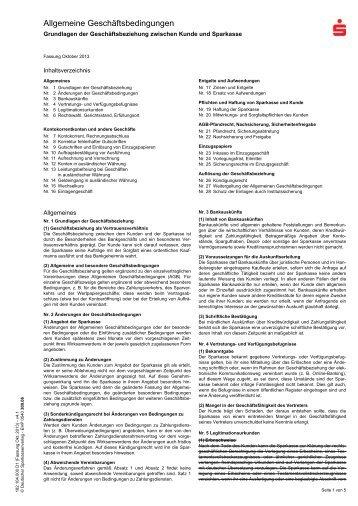 Allgemeine Geschäftsbedingungen - Sparkasse Hochfranken
