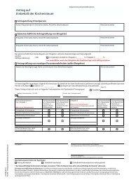 Antrag auf Einbehalt der Kirchensteuer