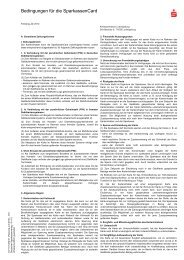 Bedingungen für die SparkassenCard - Kreissparkasse Ludwigsburg