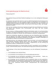 Nutzungsbedingungen für Realtime-Kurse - Sparkasse Zwickau