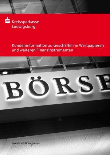 MiFiD-Broschüre - Kreissparkasse Ludwigsburg