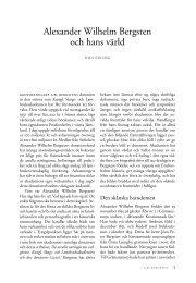 Alexander Wilhelm Bergsten och hans värld