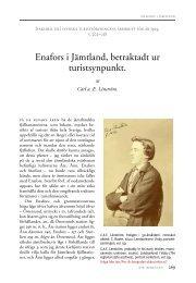 Enafors i Jämtland, betraktadt ur turistsynpunkt.