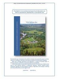 Landskapet i Västjämtland och vid Enaforsholm
