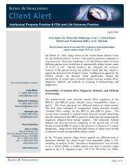 Association for Molecular Pathology, et al. v ... - King & Spalding