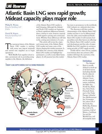 Atlantic Basin lng sees rapid growth; Mideast ... - King & Spalding