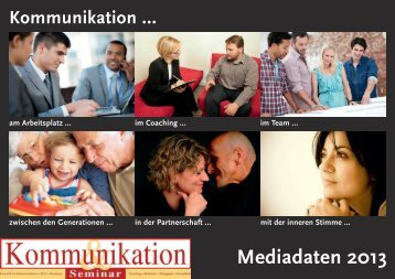 Mediadaten als pdf hier herunterladen - Kommunikation & Seminar