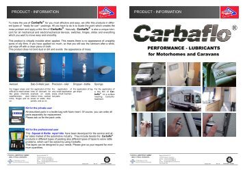 Carbaflo Products for Caravans and Motorhomes - KS Paul GmbH