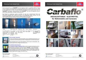 Carbaflo in der Caravan und Wohnmobil Industrie - KS Paul GmbH