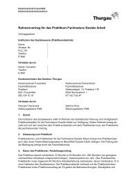 Rahmenvertrag für das Praktikum Fachmatura Soziale Arbeit