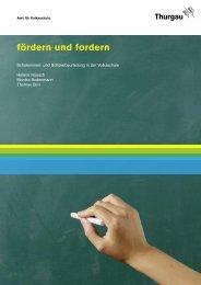 Broschüre «fördern und fordern - AVK Dokumenten Center