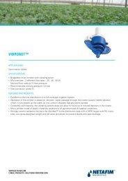 VIBRONET™ - Netafim