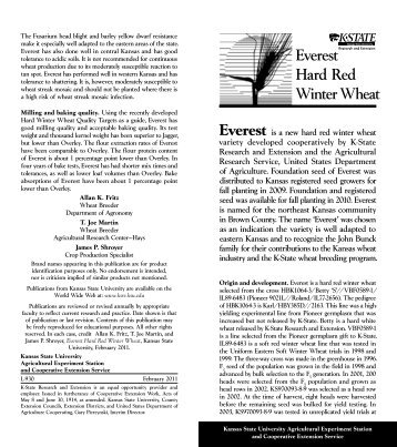 L930 Everest Hard Red Winter Wheat - K-State Research and ...