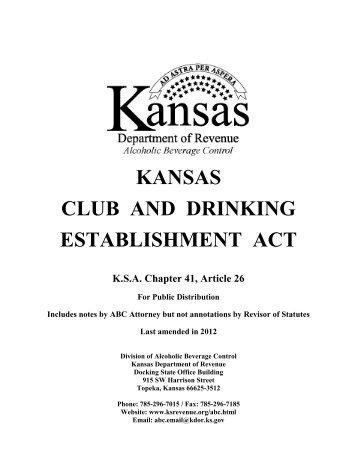 Official Memo ABC Kansas Department Of Revenue