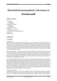 Protokoll über die Chromatographie von Ätherische