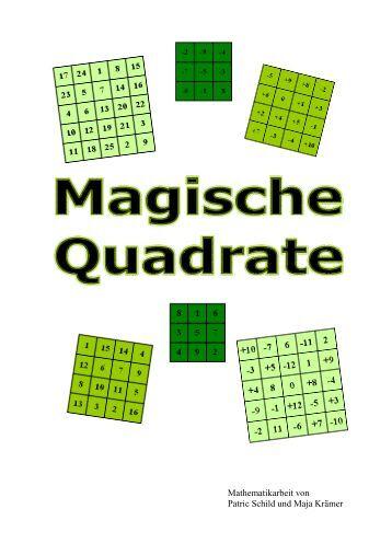 magische quadrate mathe online