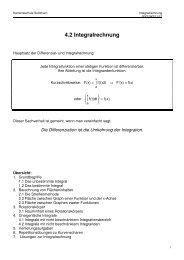 4.2 Integralrechnung - Kantonsschule Solothurn