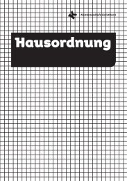 Hausordnung - Kantonsschule Solothurn
