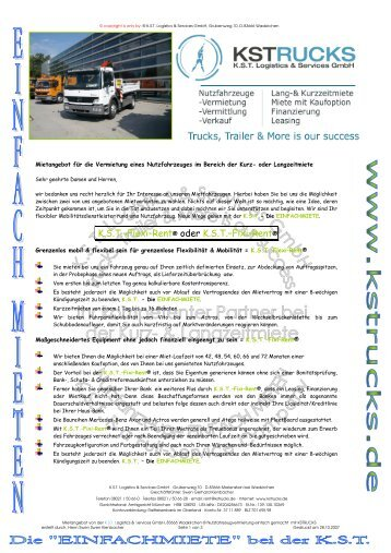 KST–Flexi–Rent® oder KST–Fixi–Rent - KSTrucks