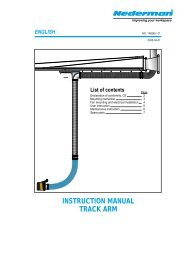 INSTRUCTION MANUAL TRACK ARM