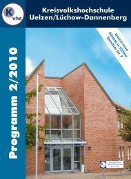 Programm 2/2010 - Kreisvolkshochschule Uelzen/Lüchow ...