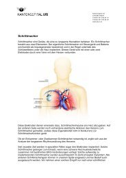 Schrittmacher - Kantonsspital Uri