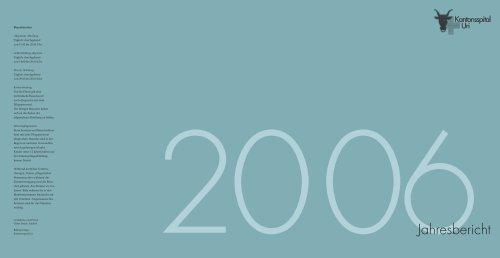 Jahresbericht 2006 - Kantonsspital Uri