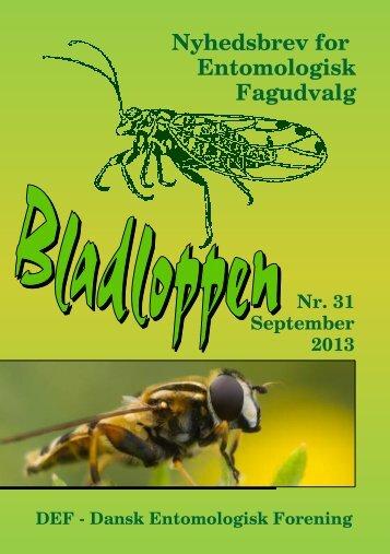 Nyhedsbrev for Entomologisk Fagudvalg