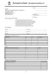 Ehrungsantrag KSV - Kreissportverband Herzogtum Lauenburg