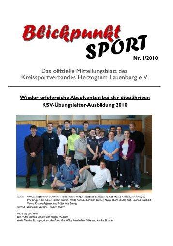 Ausgabe 1/2010 - Kreissportverband Herzogtum Lauenburg