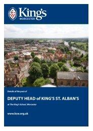 DEPUTY HEAD of KING'S ST. ALBAN'S - The King's School