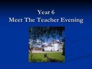 Year 6 Presentation - The King's School