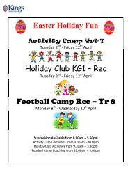 Easter Holiday Fun - The King's School