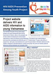 Project website delivers HIV and AIDS information to young ...