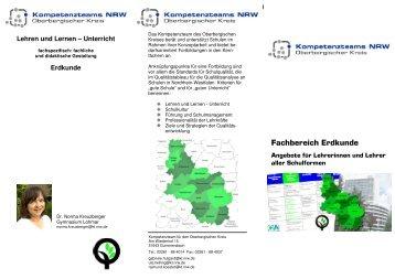 Fachbereich Erdkunde - Fortbildung NRW